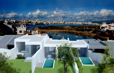 Design villa with 3 bedrooms and swimming pool near the church of Ferragudo